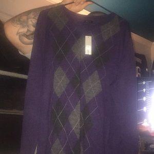 APT9 Purple and Black Sweater